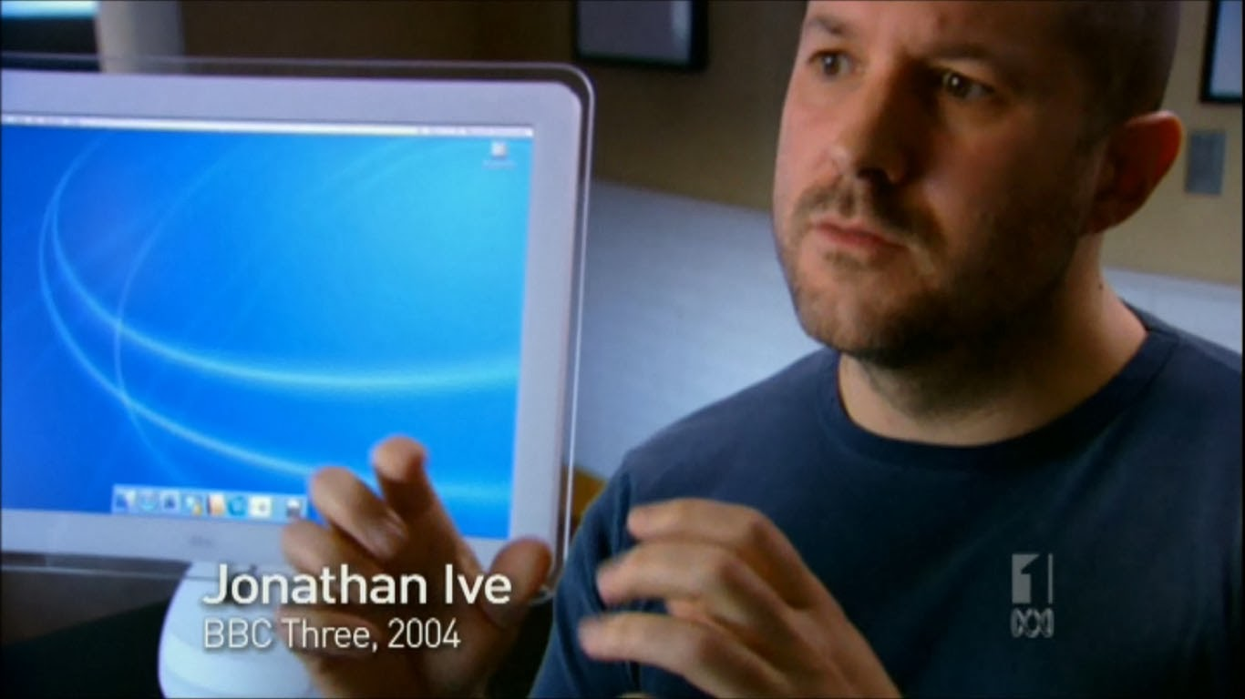 Apple iMac designer Jonathan Ive with the iMac G4 model- BBC3