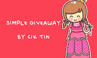 Simple Giveaway by Cik Tin