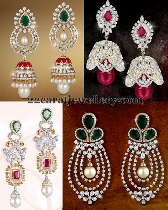 Regal Look Trendy Diamond Jhumkas