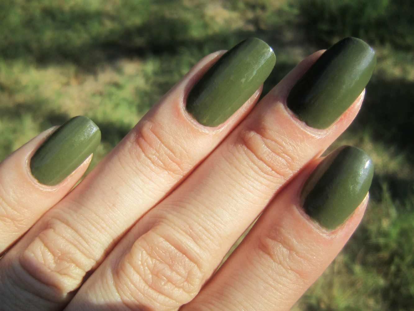Concrete and nail polish china glaze china glaze westside warrior a gorgeous dark olive green cremefantastic formula that barely needed 2 coats not really unique anymore but a great buy nvjuhfo Gallery