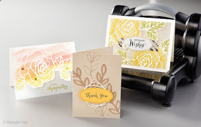 Stampin' Up! Rose Garden Thinlits cards #stampinup 2016 Occasions Catalog