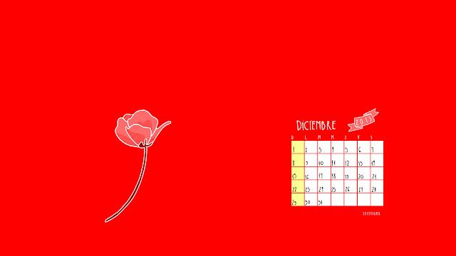 calendario ilustrado diciembre 2013