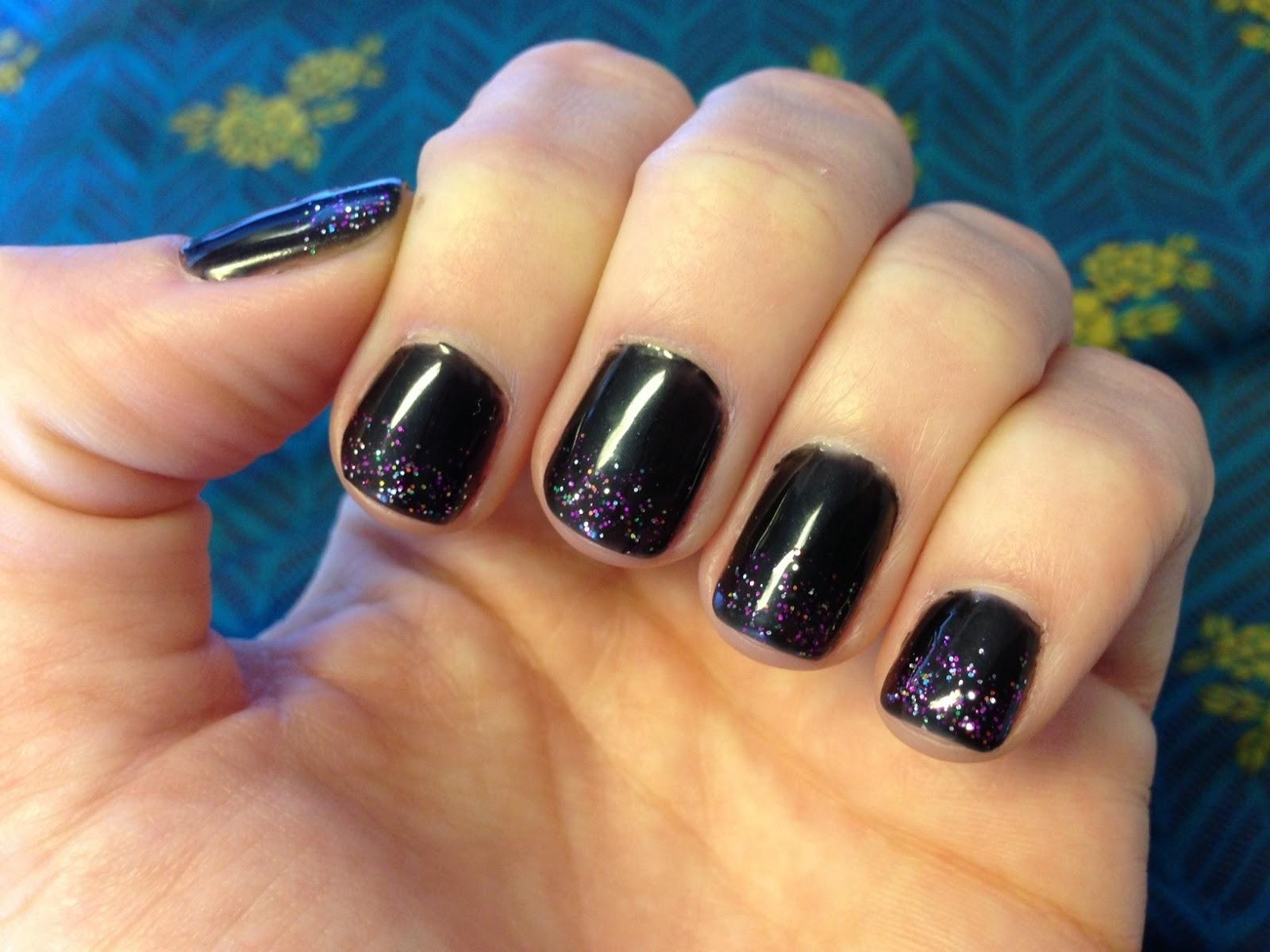 black glitter gel nail polish | best nail designs 2018