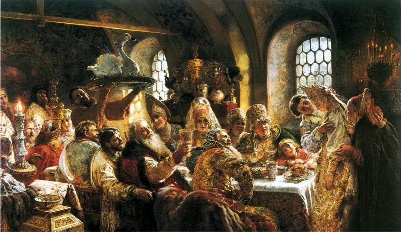 Konstantin Egorovich Makovsky wedding feast