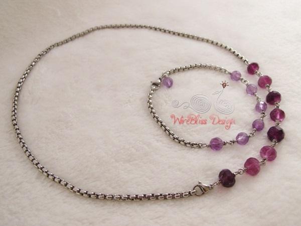 Minlace (Minima Necklace) and Minlet (Minima Bracelet) by WireBliss