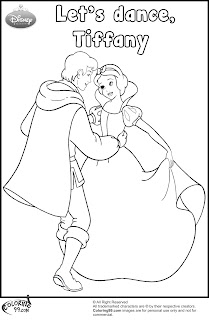 disney princess snow white dancing coloring pages