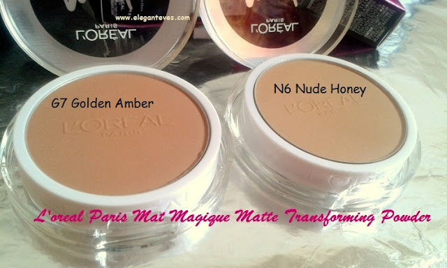 L'oreal Paris Mat Magique All-in-One Matte Transforming Powder #N6 Nude Honey and #G7 Golden Amber