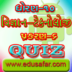 Std 10 science and technology chapter-6 Quiz