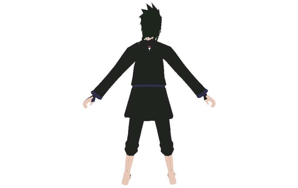Uchiha Sasuke Black Outfit