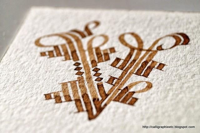 Calligraphie tatouage lettre a lettre calligraphie pour  - Tatouage Lettre V Calligraphie