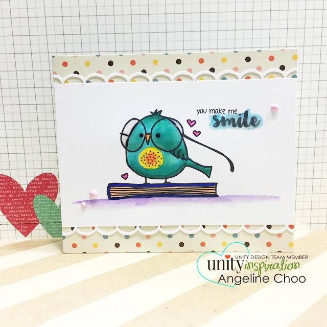 ScrappyScrappy: You make me smile #scrappyscrappy #unitystampco #stamp #card #handmade