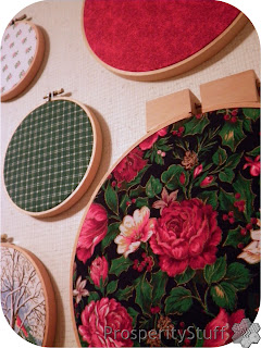 ProsperityStuff Fabric in Wooden Embroidery Hoops