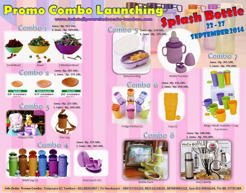 Promo Combo Launching Splash Bottle Twin Tulipware 2014