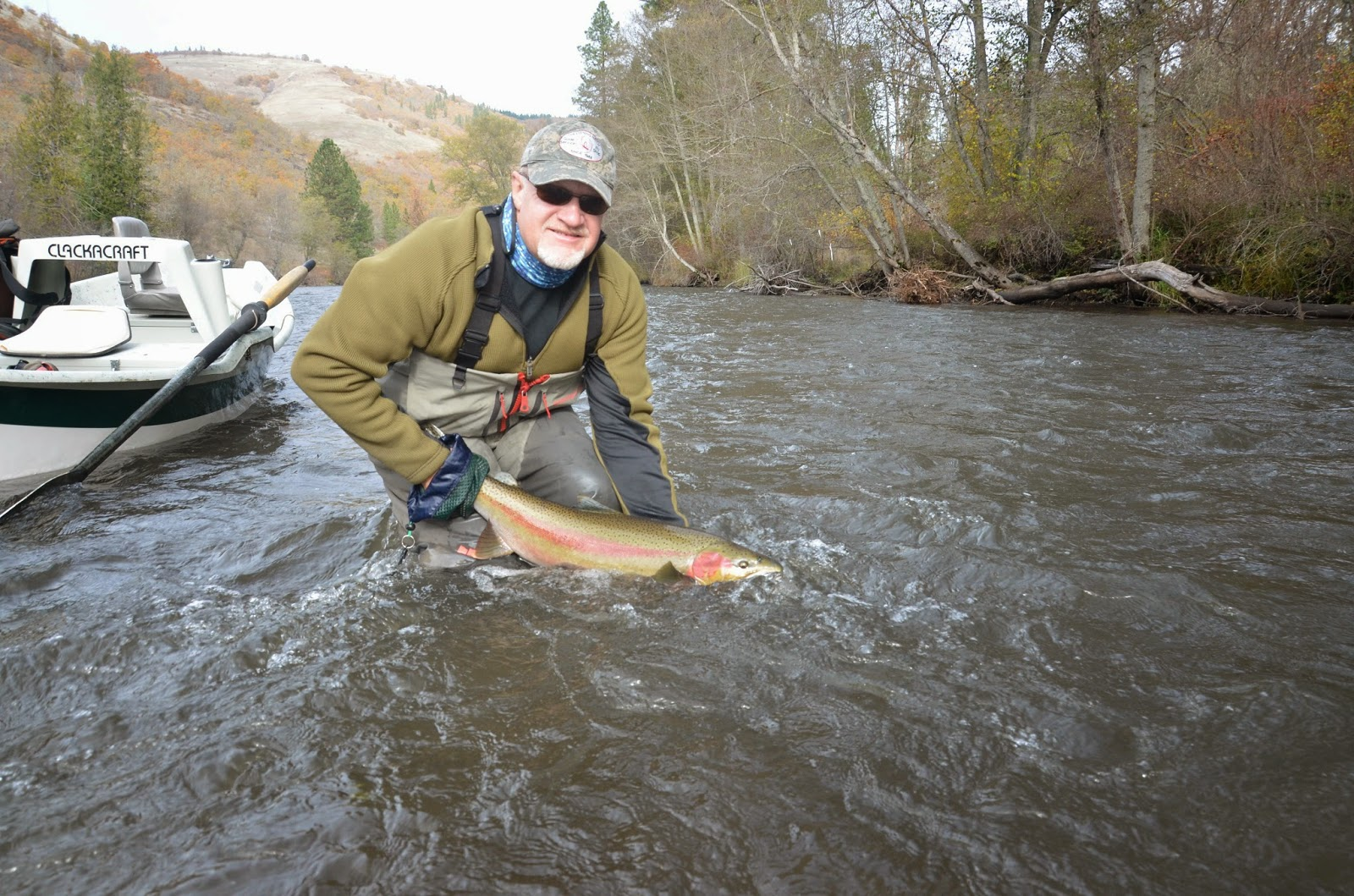 The evening hatch reports klickitat river report 11 8 14 for Klickitat river fishing report