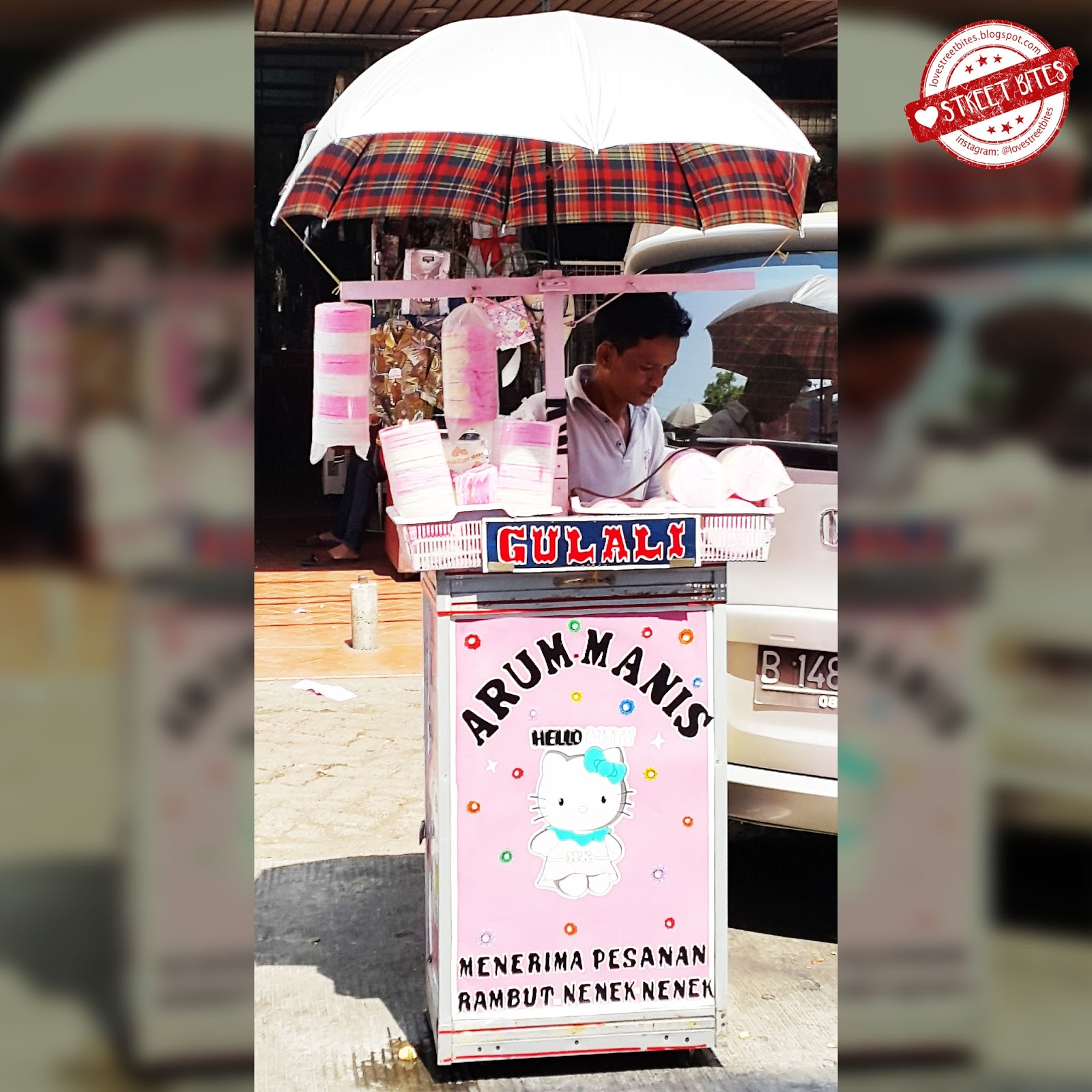 Love Street Bites Arum Manis Gulali Mayestik Jalan Tebah Iii Rambut Nenek The Colorful Cart At Kebayoran Baru Jakarta Selatan