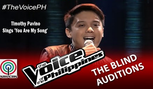 Watch Timothy Pavino Sings 'You Are My Song' on The Voice of the Philippines Season 2 Blind Audition