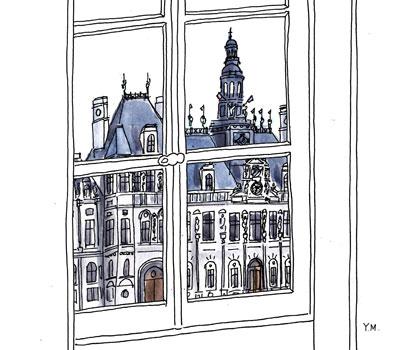 Hôtel de Ville Paris by Yukié Matsushita