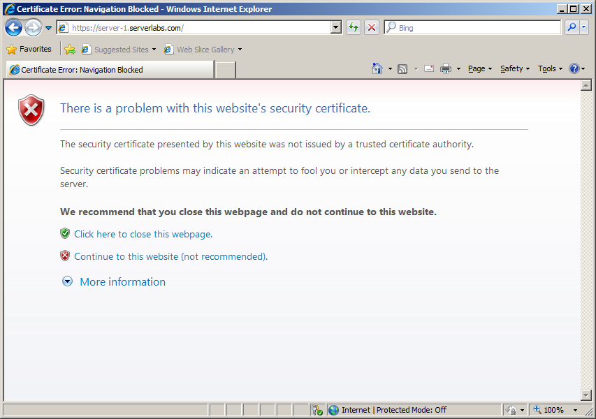 Server Labs How To Add A Self Signed Certificate To Trusted Root