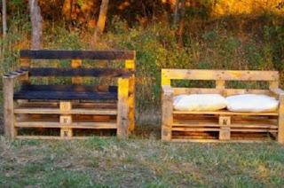 Muebles de jardín hechos con palets reciclados