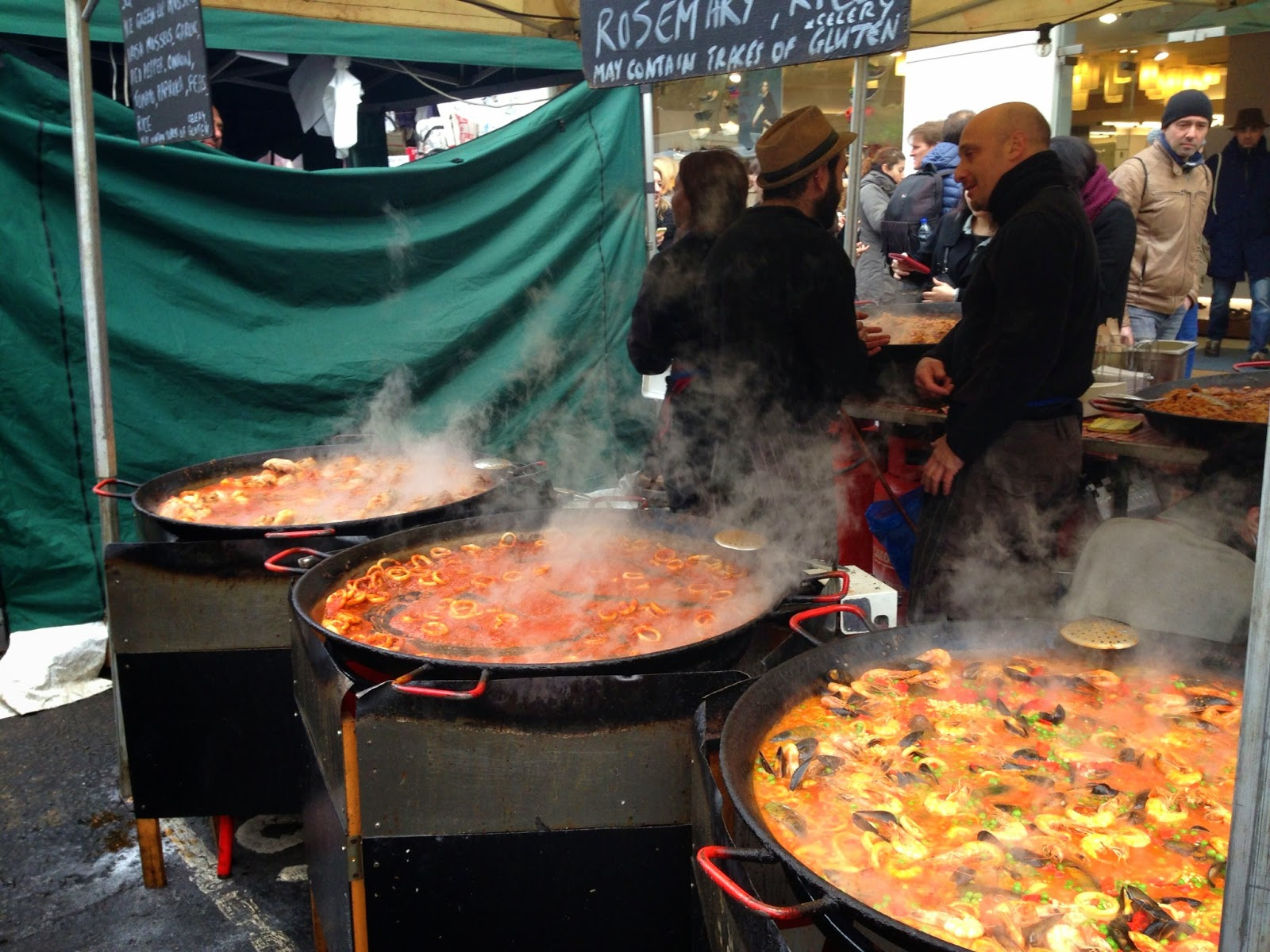 Paella at Portobello Market, London