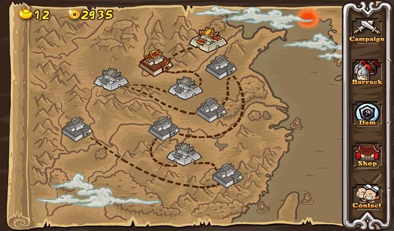 แผนที่ภายในเกมสามก๊ก Radical Three Kingdoms
