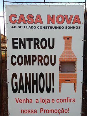 CASA NOVA MATERIAIS DE CONSTRUÇÃO ...AO SEU LADO CONSTRUINDO SONHOS..