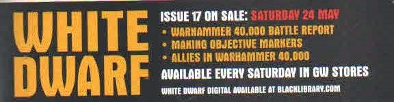 Avance del número 17 de la White Dwarf Weekly