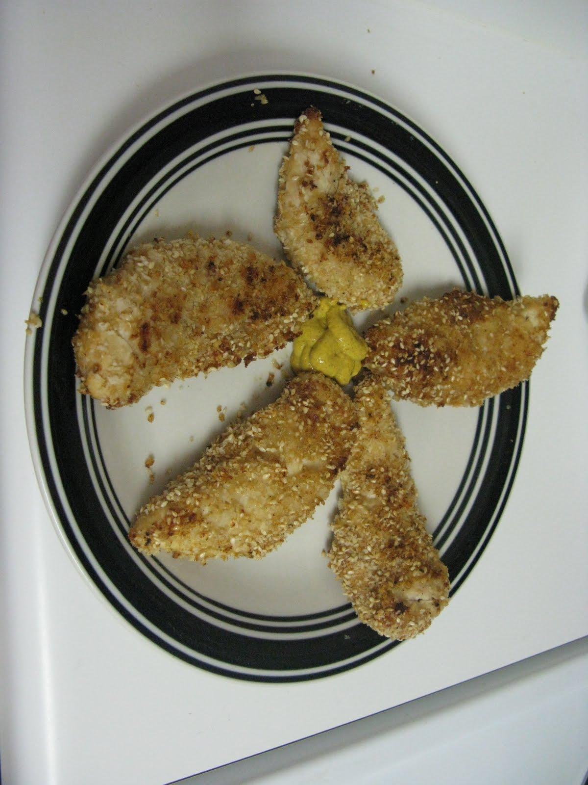 this week s recipe is sesame encrusted baked chicken tenders