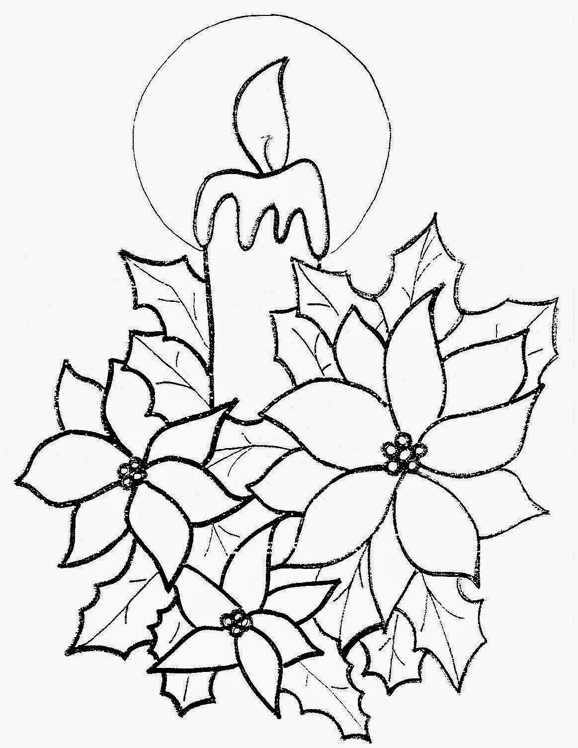 Vela De Navidad. . . Dibujos Para Colorear De Velas De Navidad ...