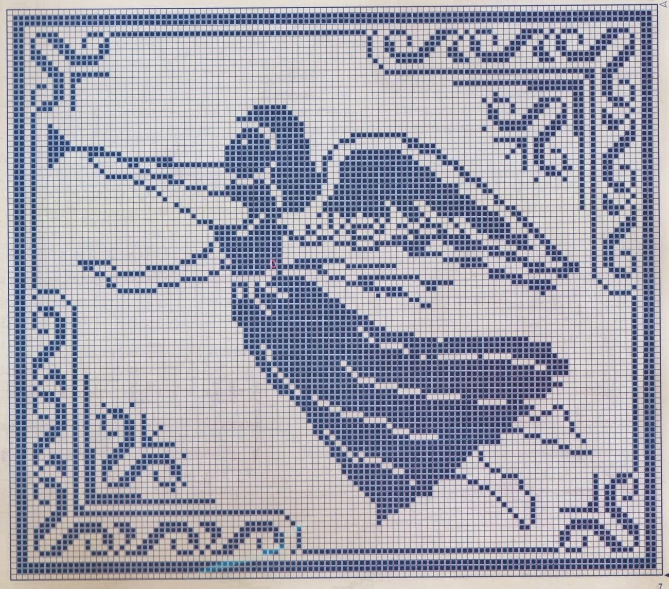 Филейное вязание крючком схема ангелочка