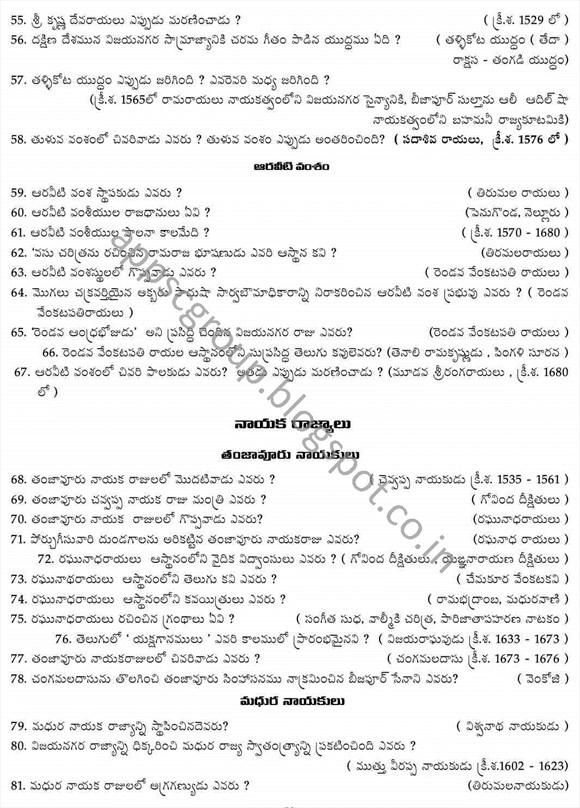 appsc notification 2014 indian history bits mcqs for telugu medium government jobs in andhra pradesh