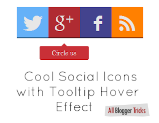 Social Icons Blogger