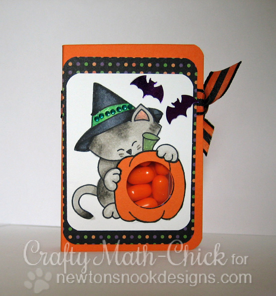 Pumpkin Tic Tac Holder by Crafty Math-Chick for Newton's Nook Designs | Newton's Perfect Pumpkin Stamp Set