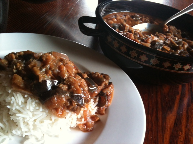 Living on pulse indian eggplant curry i just love indian food especially after our visit to fiji this is an easy and tasty dish to prepare and a great way to eat eggplant forumfinder Gallery