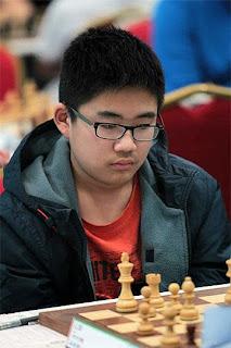 Contre toute attente, le Chinois Li Di (2092) mène avec 8,5/9 dans la catégorie des moins de 14 ans - Photo © Chessbase
