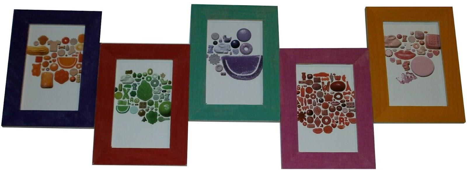 Telas cajas y tinajas marco decorado con papel pinocho - Marcos decorados ...