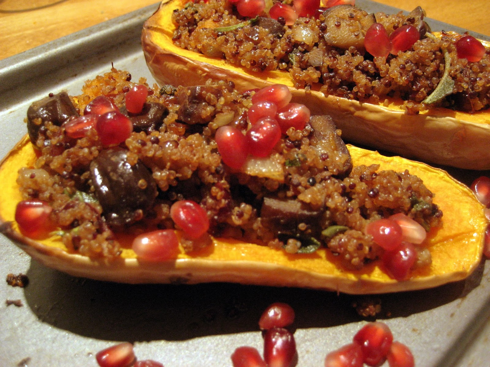 Butternut Squash Chestnut Quinoa vegan recipe vegetarian prized recipe M&S