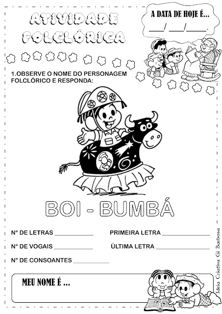 Atividade Folclore Boi-Bumbá