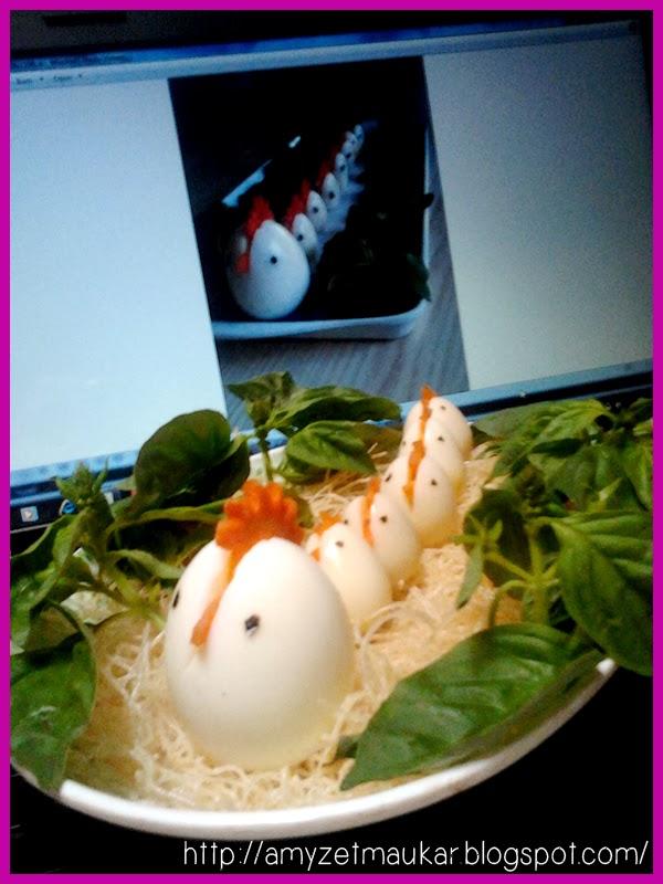 Telur ayam unik, makanan unik, food Art