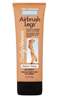 fake tan, fabulous, review, sally hansen, airbrush legs, leg make up