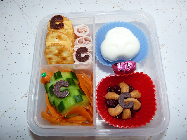 Letter C bento lunch