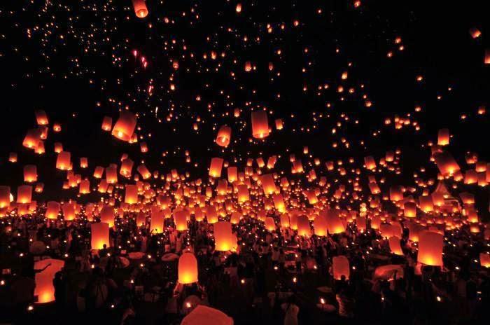 lễ hội đèn lồng - những lễ hội ở Thái Lan