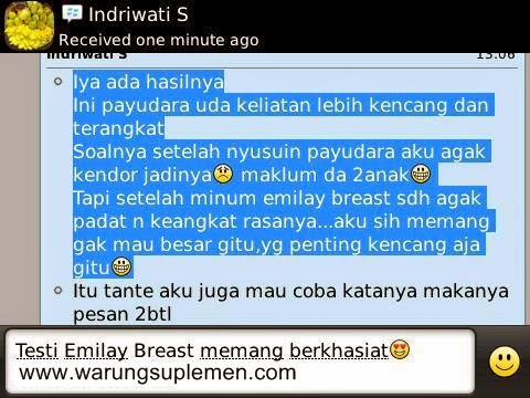 Bukti dan Testimoni  Suplemen Pembesar Payudara Emilay Breast Enhancement