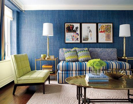 Blue And Green Living Room color changes everything: blue & green