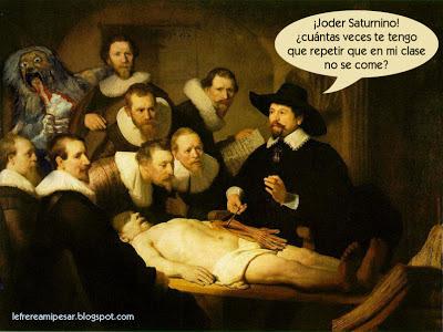 walking dead, lección, anatomía, Goya, Saturno