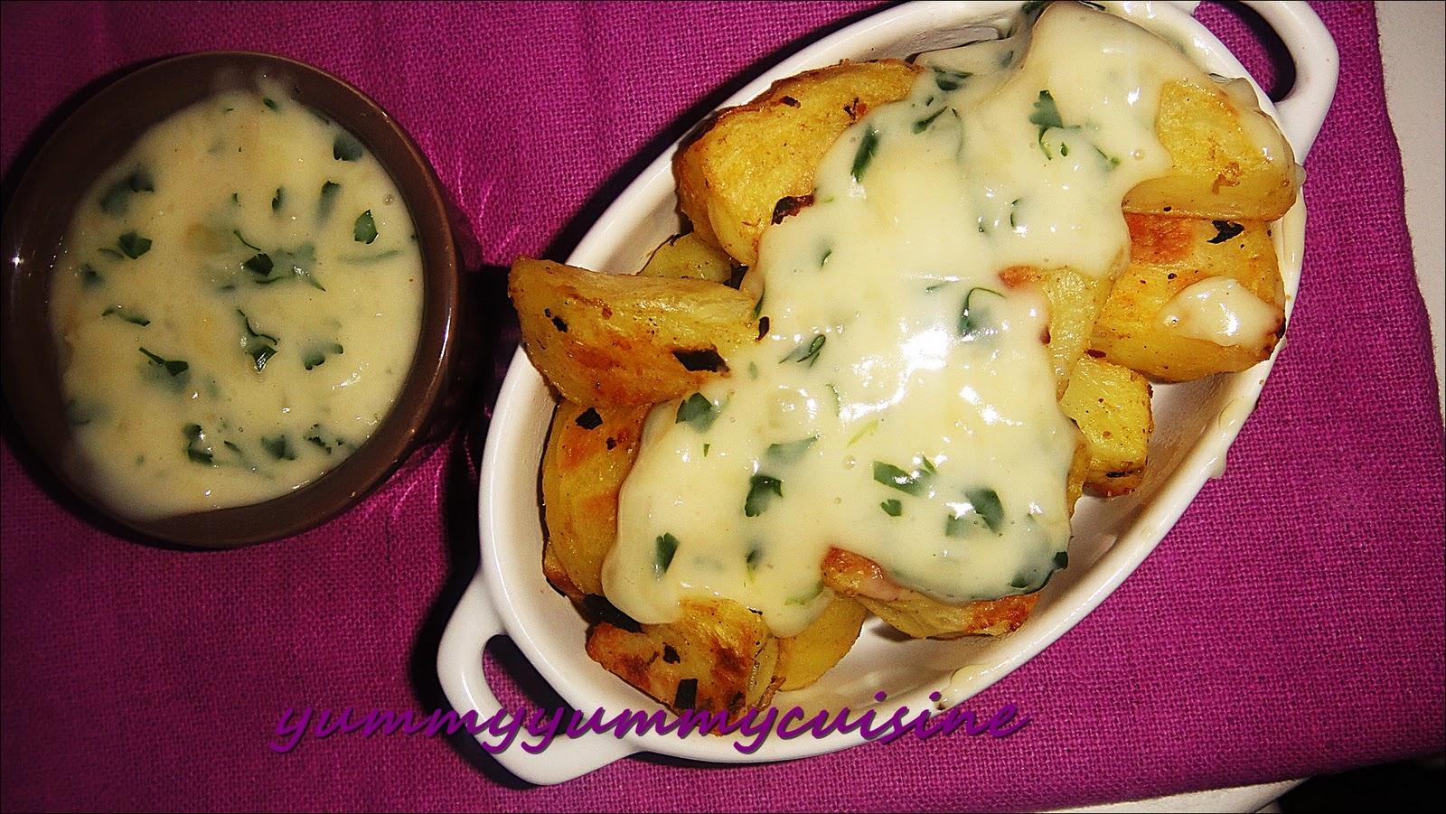 yummy yummy cuisine potatoes sauce l 39 ail. Black Bedroom Furniture Sets. Home Design Ideas
