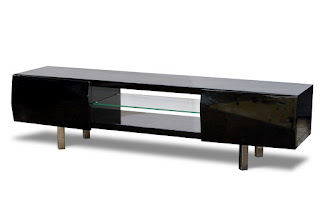 Diamond Sofa 71 Inch Low Profile Plasma Cabinet from the Arctic Collection - Black