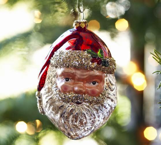Santa head christmas tree ornament modern design by