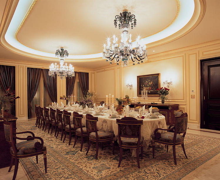 Luxury pop ceiling designs for dinning room for Dining room ceiling designs pictures