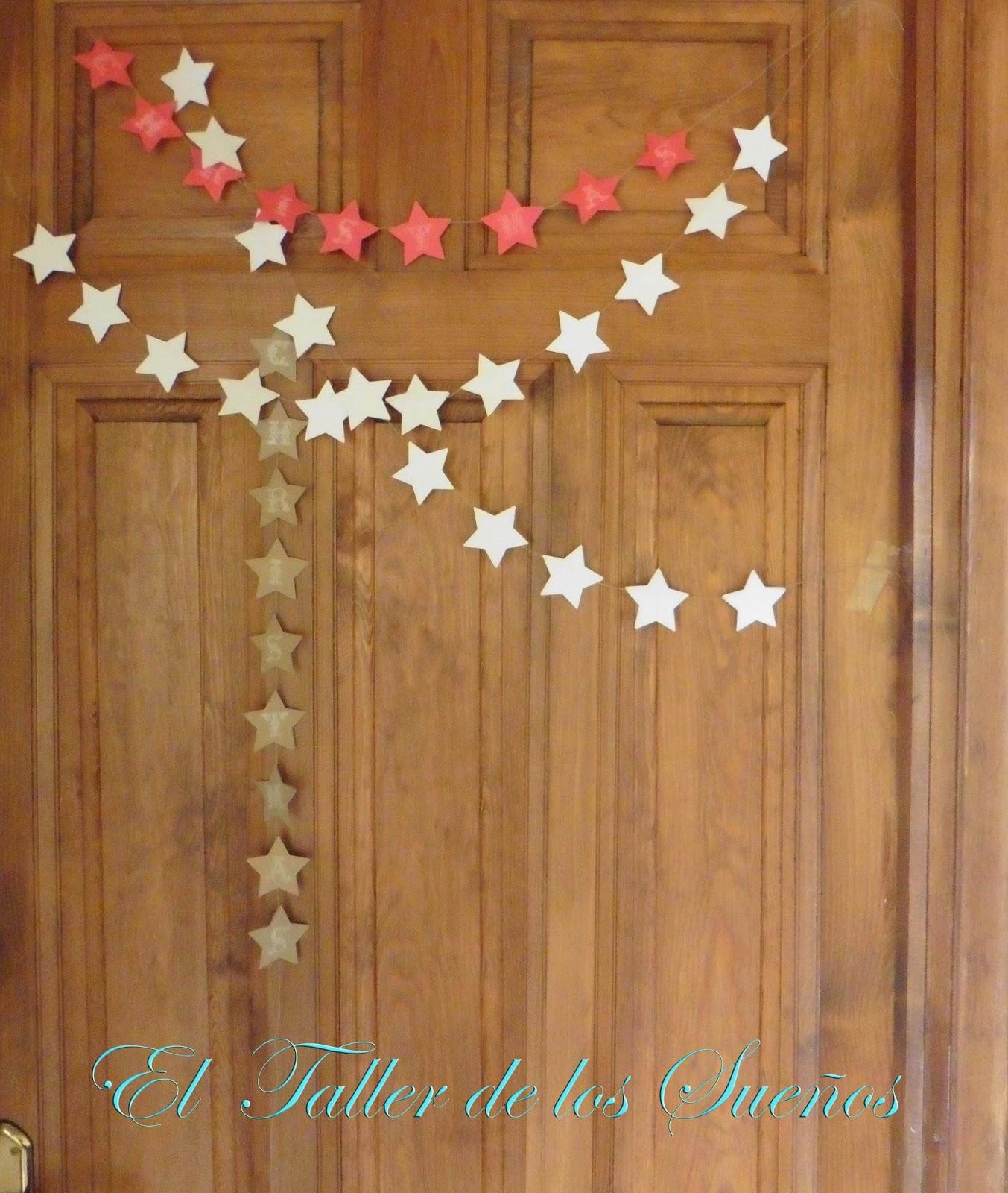 Taller de sue os decoraci n navide a diy guirnaldas de - Decoracion navidena diy ...